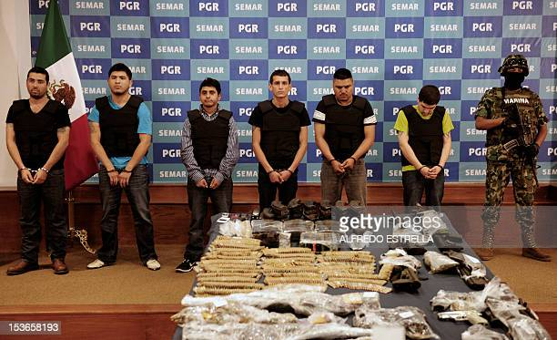 "Salvador Alfonso Martinez, aka ""Ardilla"", , alleged member of the Los Zetas Cartel and alleged mastermind of the San Fernando slaugther, is presented..."