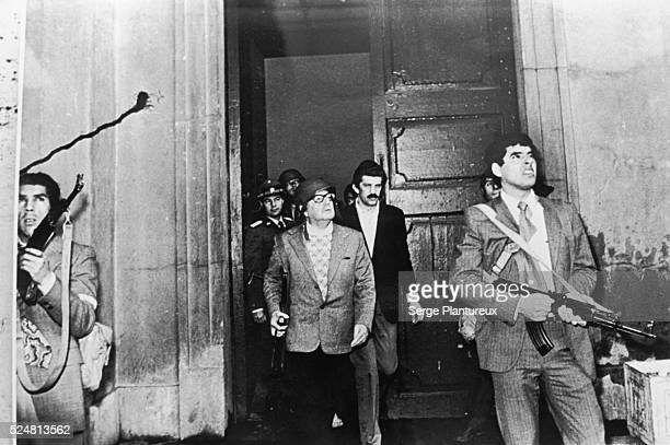 Salvador Allende photographed the day of the coup which overthrew him