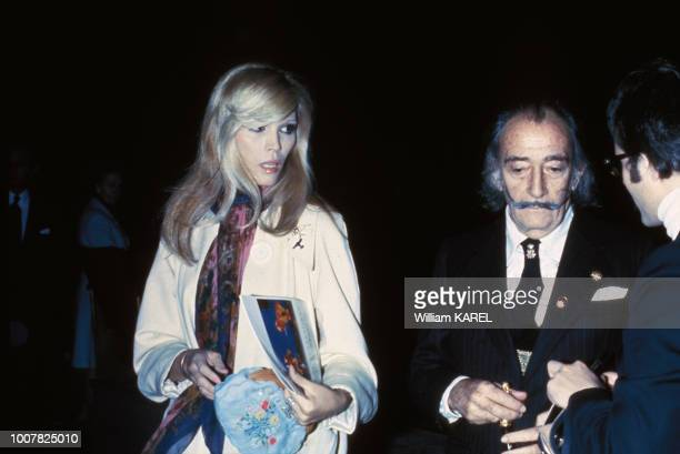 Salvador Dalí et Amanda Lear circa 1970 en France