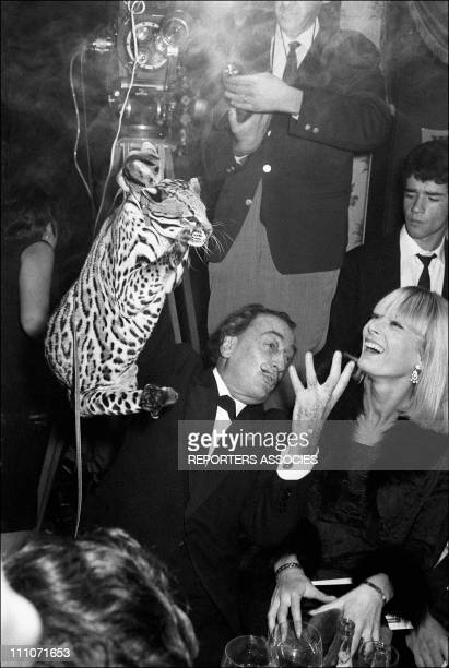 Salvador Dali and Amanda Lear On The Elysees Palace in France on November 10 1965