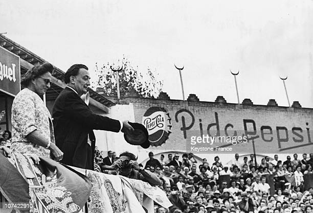 Salvador Dali And His Wife At A Bullfight