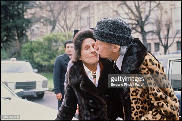 Salvador Dali and his wife Gala in Paris