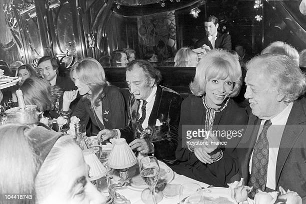 Salvador Dali Attending A Dinner Organized At Chez Maxim'S In Paris For The Premiere Of Roger Kahane'S Latest Film Madly On December 11 1970