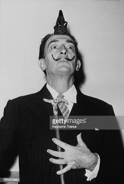 Salvador Dali During A Conference In Paris On May 13Rd 1958