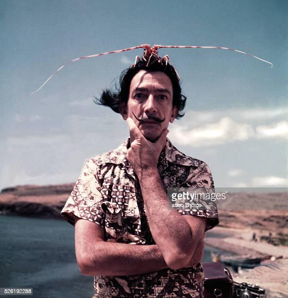 Salvador Dali in Cadaqu��s In 1954