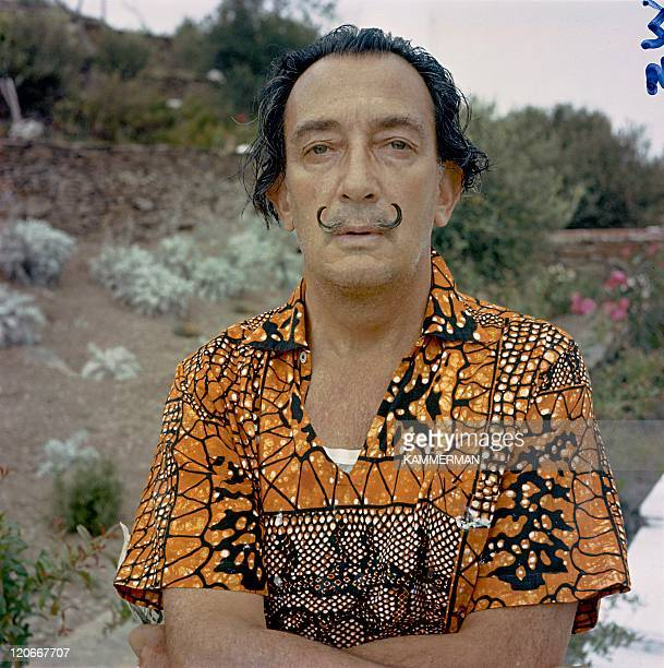 Salvador Dali in Figueres, Spain - The artist in his home.