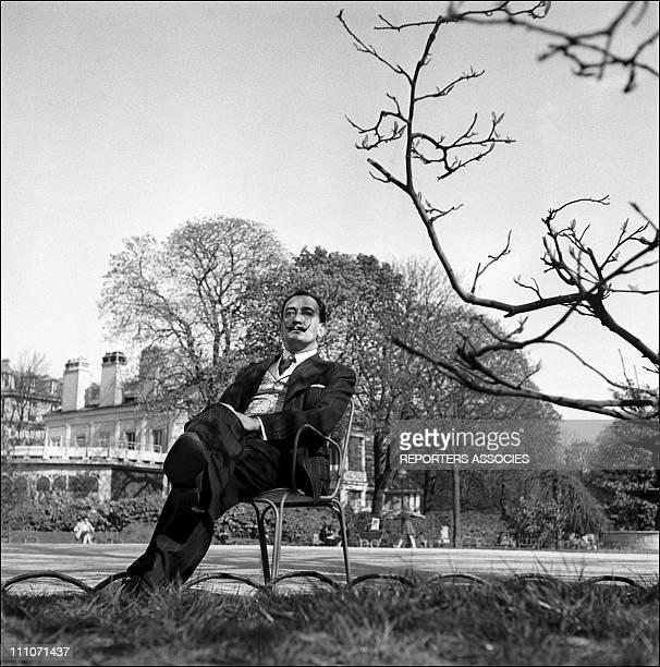 Salvador Dali In Paris In ChampsElysees Square In Paris France In 1953