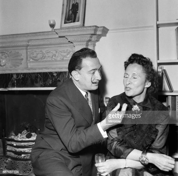 Salvador Dali is to paint a portrait of Sir Laurence Olivier Dali with his wife Gala 27th April 1955