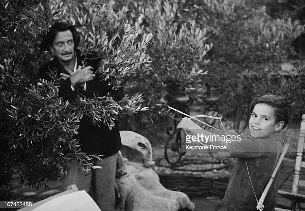 Salvador Dali Playing With A Child