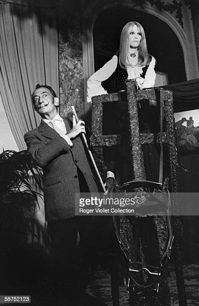 Salvador Dali Spanish painter and engraver and Amanda Lear his muse France about 1966
