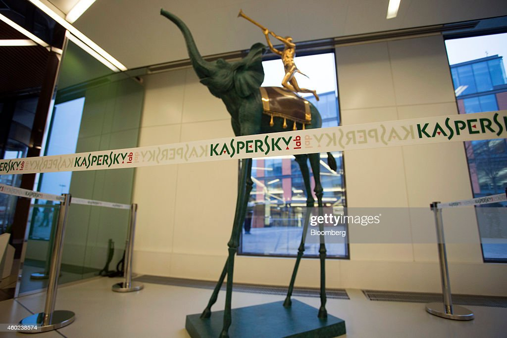 A Salvador Dali style artwork sits on display at the headquarters of Kaspersky Lab, a cyber-security firm, in Moscow, Russia, on Tuesday, Dec. 9, 2014. 'Hackers have become capable of carrying out very advanced attacks,' Kaspersky said. Photographer: Alexander Zemlianichenko Jr./Bloomberg via Getty Images
