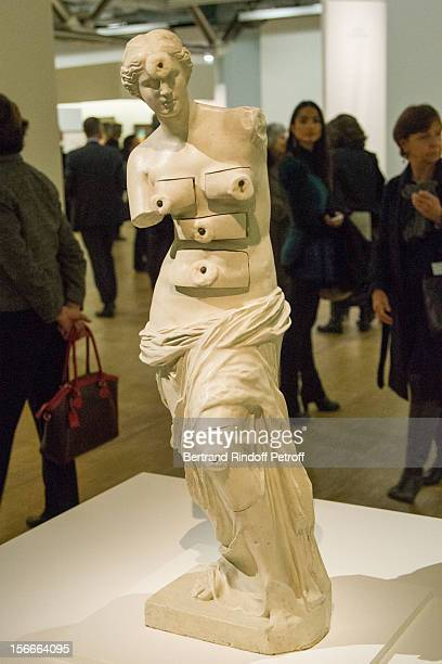 Salvador Dali's 'Venus de Milo with Drawers' is displayed at Dali Private Exhibition Preview at Centre Pompidou on November 18 2012 in Paris France