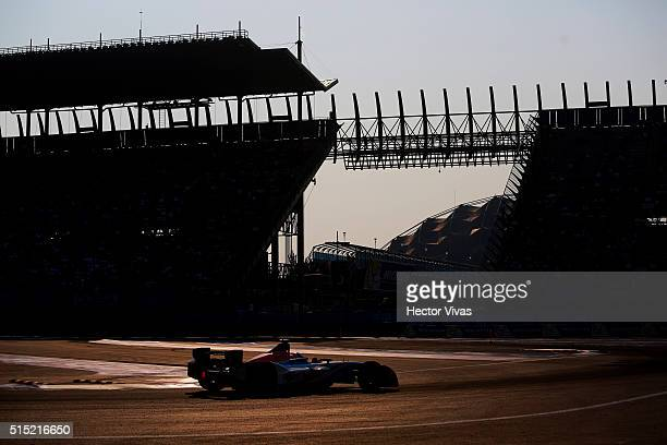 Salvador Duran of Mexico and Team Aguri during the Mexico City Formula E Championship 2016 at Autodromo Hermanos Rodriguez on March12, 2016 in Mexico...