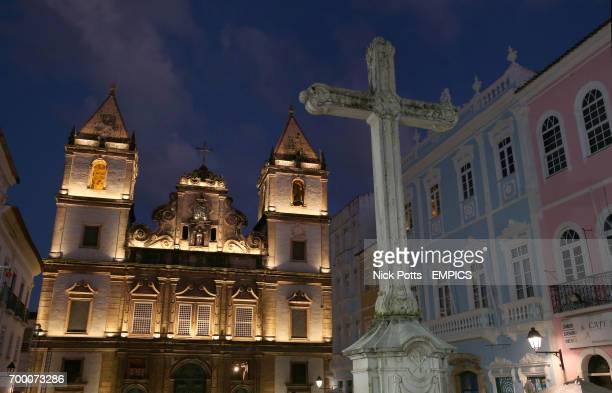 Salvador Igreja Convento De Sao Francisco Saint Francis Church and Convert in the Historical centre of Salvador during a service
