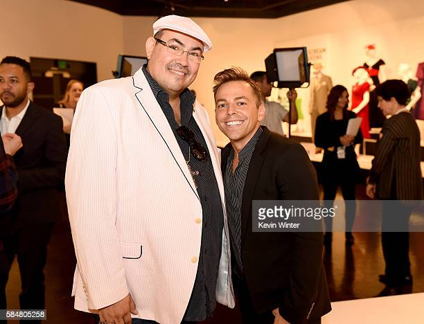 Salvador Perez Presidentof the Costume Designers Guild and costume designer Emmy nominee Paolo Nieddu 'Empire' pose at the Art of Television Costume...