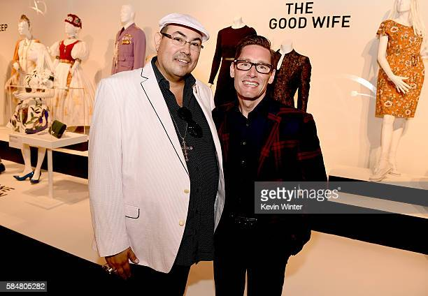 Salvador Perez Presidentof the Costume Designers Guild and costume designer Emmy nominee Daniel Lawson 'The Good Wife' pose at the Art of Television...