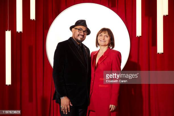 Salvador Pérez Jr and Sanja Milkovic Hays attend the 22nd Costume Designers Guild Awards at The Beverly Hilton Hotel on January 28 2020 in Beverly...