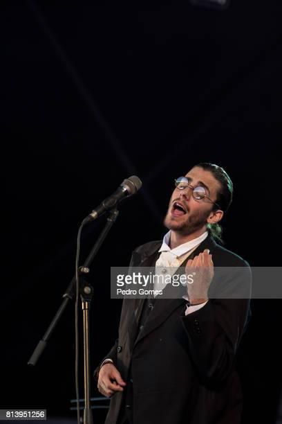 Salvador Sobral aka Benjamin Cymbra performs on the project Alexander Search on EDP stage at day 1 of Super Bock Super Rock festival on July 13 2017...