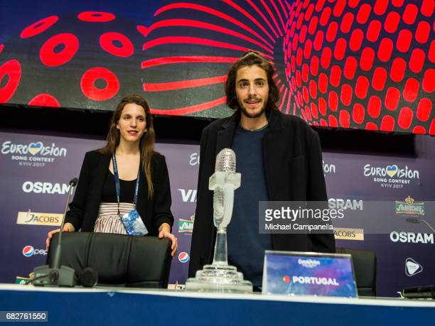 Salvador Sobral during the press conference after the final of the 62nd Eurovision Song Contest at International Exhibition Centre on May 13 2017 in...