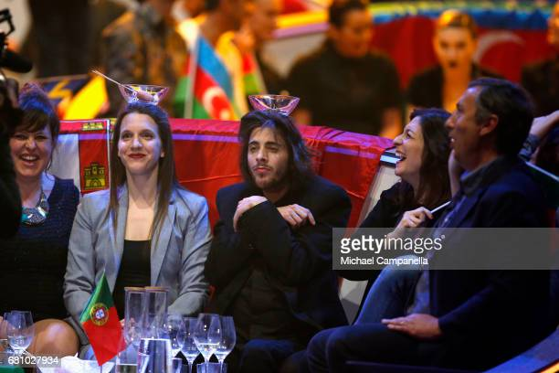 Salvador Sobral representing Portugal during the first semi final of the 62nd Eurovision Song Contest at International Exhibition Centre on May 9...