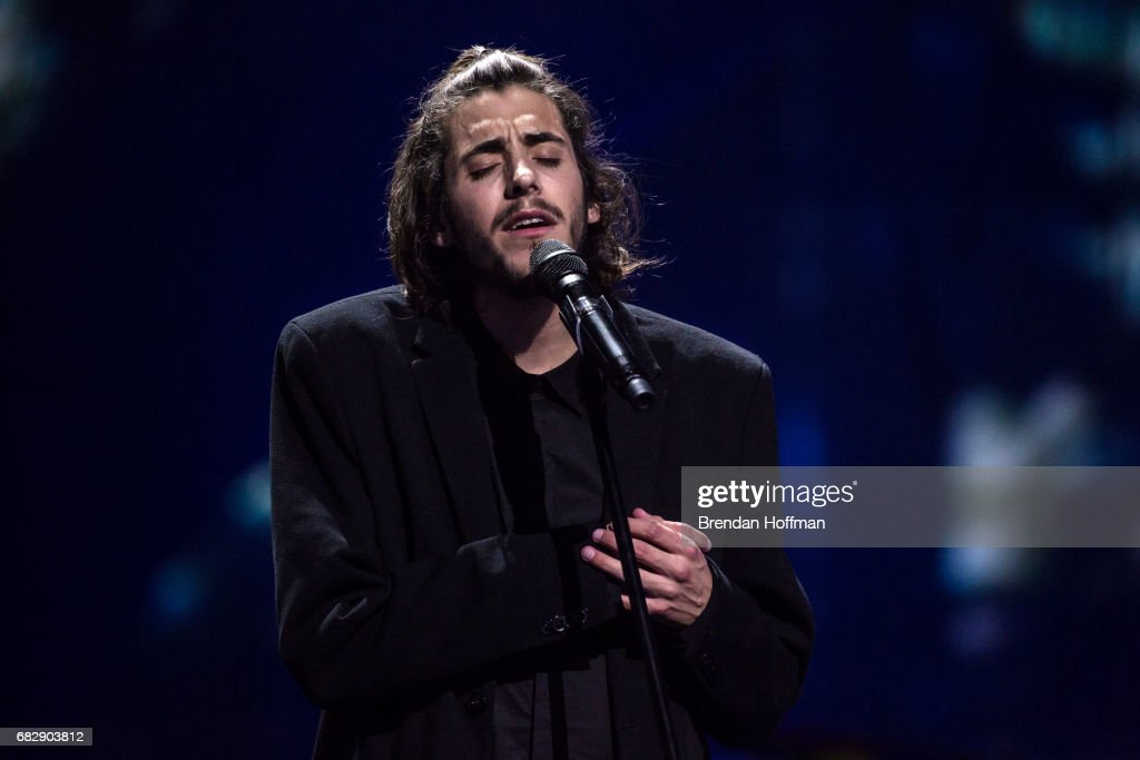 Salvador Sobral, the contestant from Portugal, performs after being announced as the winner at the Eurovision Grand Final on May 14, 2017 in Kiev, Ukraine. Ukraine is the 62nd host of the annual iteration of the international song contest. It is the longest running international TV song competition, held primarily among countries from Europe. Each participating country will perform an original song, votes cast by the other countries determine the winner. This year's winner Salvador Sobral from Portugal won with his love ballad 'Amar Pelos Dois'.