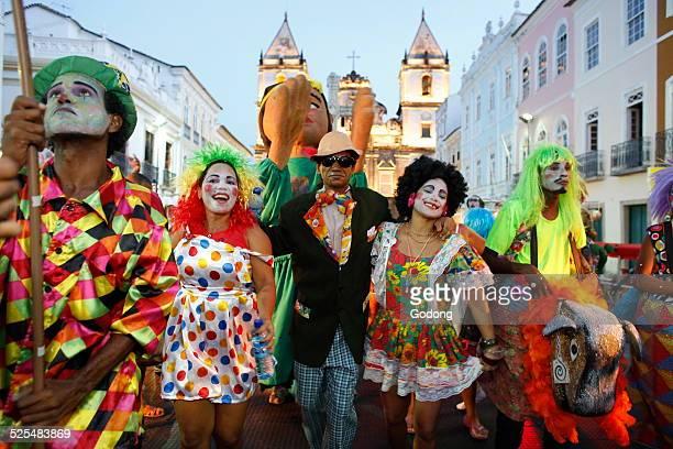 Salvador street carnival in Pelourinho