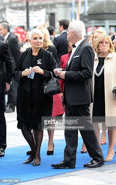 Salvador Tous and Rosa Oriol attend Princesa de Asturias Awards 2015 on October 23, 2015 in Oviedo, Spain.
