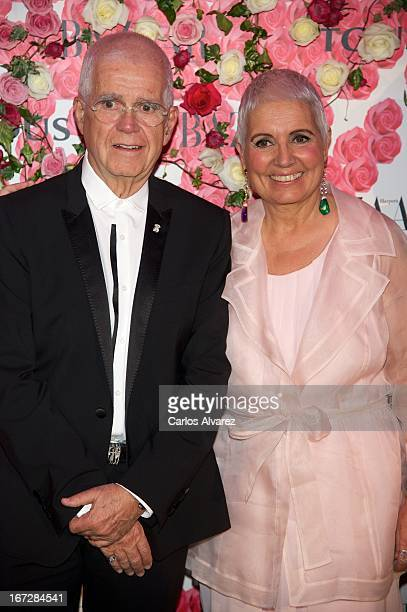 """Salvador Tous and Rosa Oriol attend the presentation of the new fragance """"Rosa"""" at the Ritz Hotel on April 23, 2013 in Madrid, Spain."""