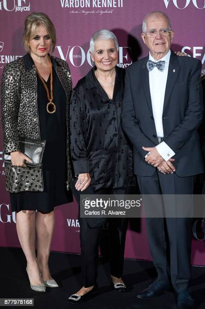 Salvador Tous and wife Rosa Oriol attend the 'Vogue Joyas' awards 2017 at the Santona Palace on November 23, 2017 in Madrid, Spain.