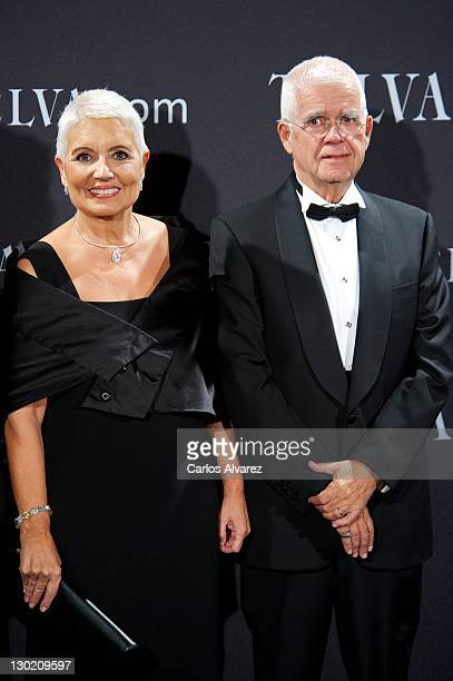 Salvador Tous and wife Rosa Tous attend the Telva Awards 2011 at Palacio de Montalban on October 24, 2011 in Madrid, Spain.