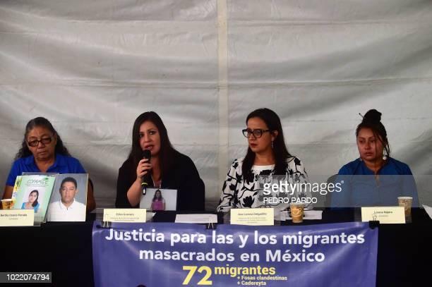 Salvadoran Bertilia Osorio Parada mother of Carlos Alberto Osorio one of the 72 migrants killed eight years ago in Tamaulipas Mexico Erika Guevara...
