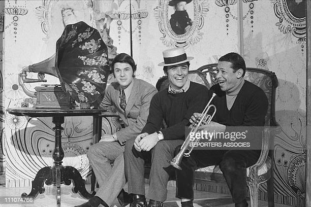 Salvadore Adamo Sacha Distel Henri Salvador in France on January 21st 1968