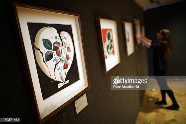 Salvadore Dali's watercolour 'Coeur de Fraises' is displayed with others at Bonhams on June 12 2013 in London England The fourteen original Salvador...