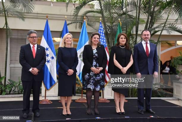 Salvadorean Foreign Minister Carlos Castaneda US Homeland Security Secretary Kirstjen Nielsen Guatemalan Foreign Minister Sandra Joviel Honduran...
