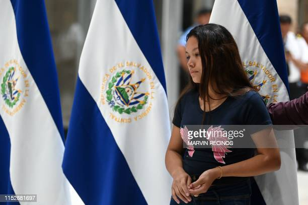 Salvadorean Tania Vanessa Avalos, widow of Salvadorean migrant Oscar Martinez and mother of their deceased two-year-old Valeria, arrives at San Oscar...