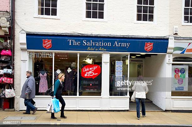 salvation army charity shop, ipswich - salvation army stock photos and pictures