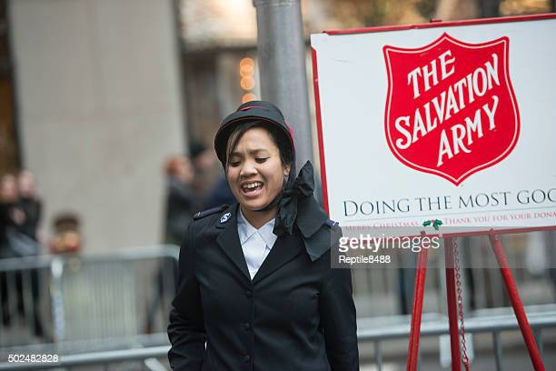 salvation army collection crew - salvation army stock photos and pictures