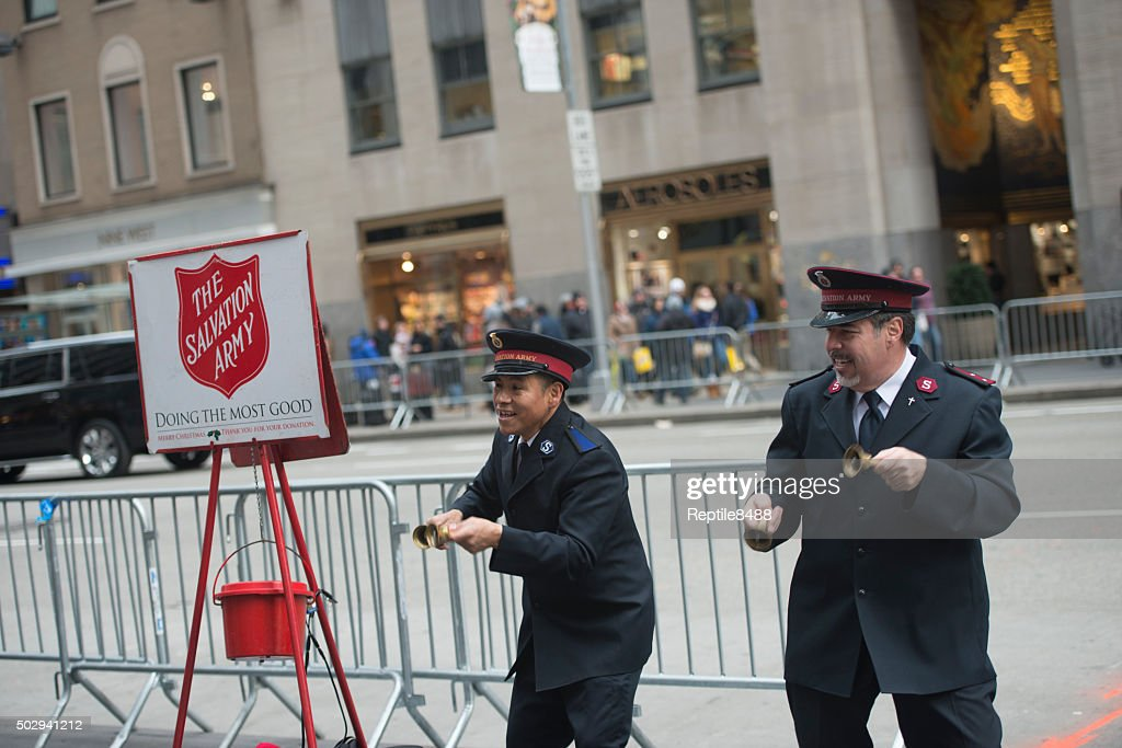Salvation Army Collection Crew : Stockfoto