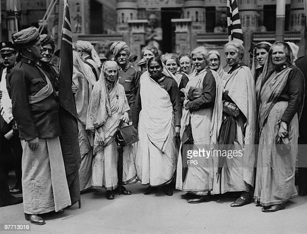 Salvation Army delegates from British colonies at a parade and meeting at Crystal Palace London circa 1925