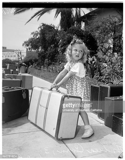 Salvation Army summer camp at Redondo June 28 Carolyn Lee 3 1/2 years Harry Williams 6 years Andrea Corn 3 years Redondo California June 28 1951