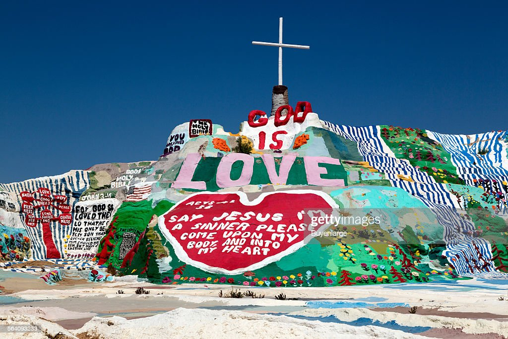 Salvation Mountain Is An Art Installation Covering A Hill North Of Calipatria California Near