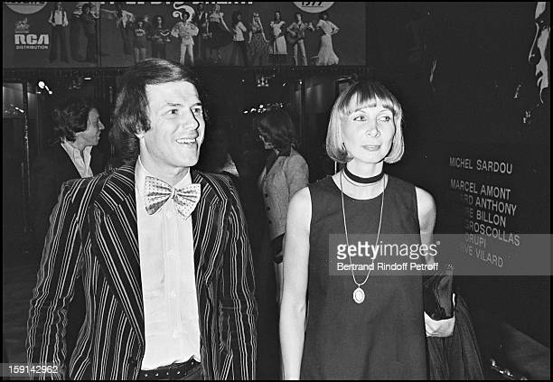Salvatore Adamo and his wife attend Nicole Croisille's Premiere at the Olympia Music Hall in Paris in 1976