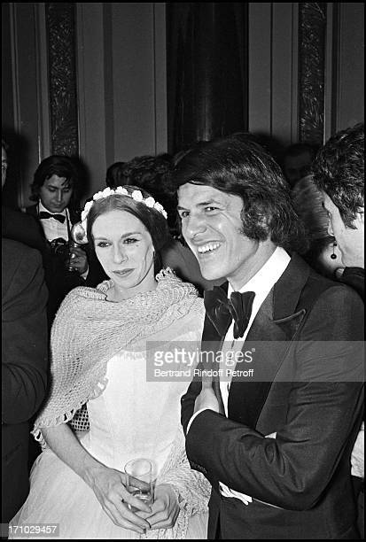 Salvatore Adamo and his wife Nicole during the Unicef Gala in Paris in 1972.