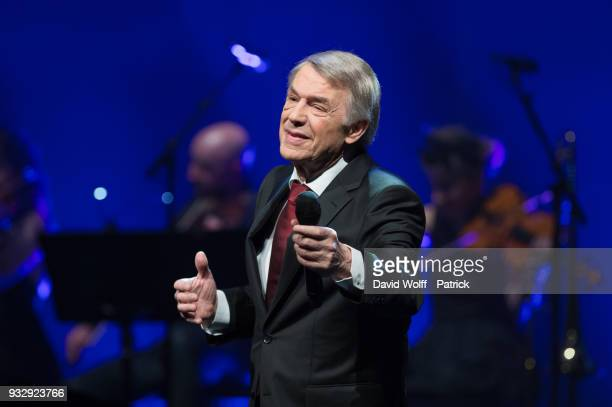 Salvatore Adamo performs at L'Olympia on March 16 2018 in Paris France