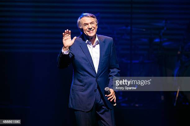 Salvatore Adamo performs during the 'Leurs Voix Pour L'Espoir 2015' Concert at L'Olympia on September 17, 2015 in Paris, France.