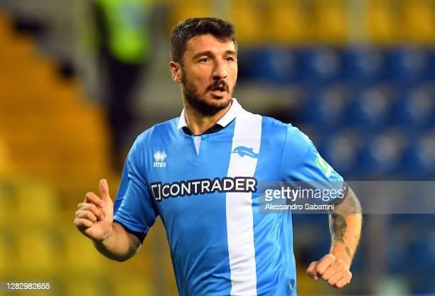 Salvatore Bocchetti of Pescara Calcio looks on during the Coppa Italia match between Parma Calcio and Pescara Calcio at Ennio Tardini on October 28,...