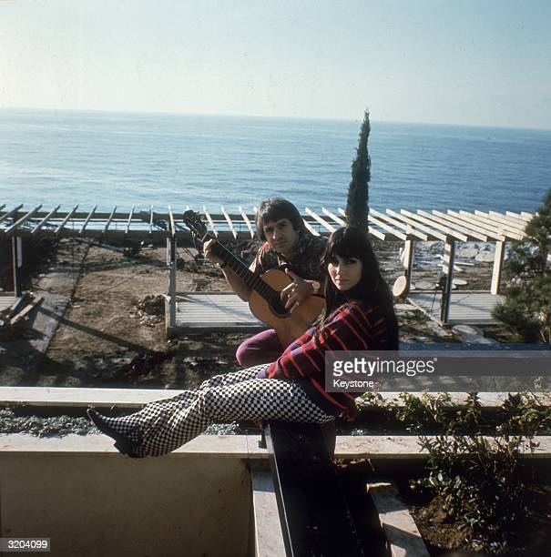 Salvatore Bono and Cherilyn Sarkasian LaPier better known as the husband and wife duo Sonny and Cher at their home in California circa 1966