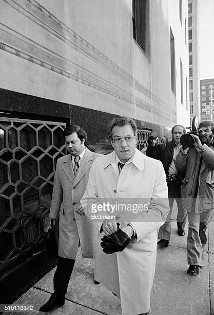 Salvatore Briguglio of Paramus New Jersey leaves the Federal Courthouse December 4 after appearing before the Grand Jury investigating the...