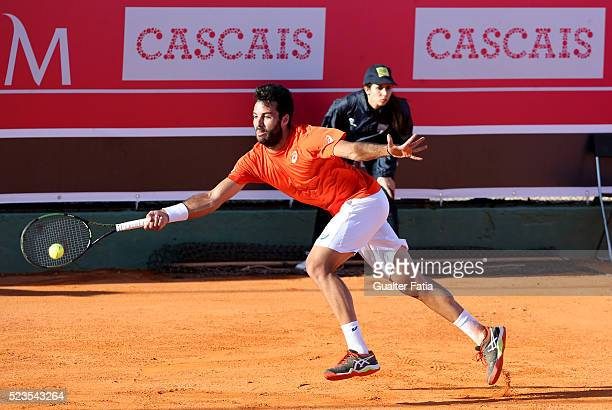 Salvatore Caruso from Italy in action during the match between Albert Montanes and Salvatore Caruso for Millennium Estoril Open at Clube de Tenis do...