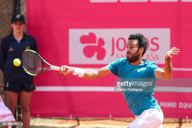 Salvatore Caruso from Italy in action during the match between Corentin Moutet and Salvatore Caruso for Millennium Estoril Open 2018 Qualify Round 01...